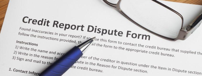 credit dispute letter
